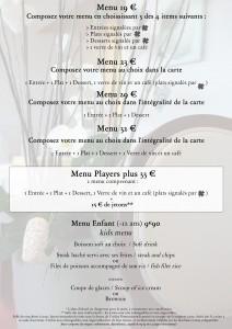 menus et formules